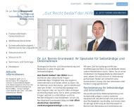 Bild Webseite Rechtsanwalt Dr. jur. Benno Grunewald Bremen