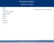 Bild Webseite Rechtsanwältin Isabella Surek Bremen
