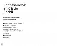 Bild Webseite Rechtsanwältin Kristin Raddi Hamburg