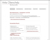 Bild Webseite Rechtsanwältin Anke Oberschelp Bielefeld