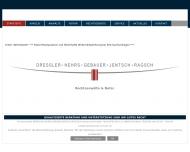Bild Webseite Rechtsanwälte Dressler • Hehrs • Gebauer • Jentsch Bochum