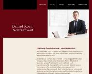 Bild Webseite Rechtsanwalt Daniel Koch Düsseldorf