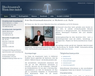 Bild Webseite Rechtsanwalt Hans-Peter Sachs Oberhausen