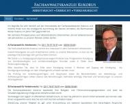 Bild Webseite Fachanwaltskanzlei Kukorus Düsseldorf