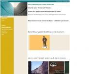 Bild Webseite Rechtsanwalt Matthias Heinichen Dortmund