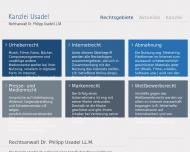 Bild Webseite Rechtsanwalt Philipp Usadel Aachen
