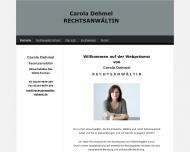 Bild Webseite Rechtsanwältin Carola Dehmel Köln
