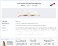 Bild Webseite Rechtsanwältin Irmtraud Manke-Bergbauer Düsseldorf