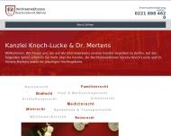 Bild Webseite Rechtsanwältin Dr. iur. Verena Mertens Köln
