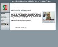 Bild Webseite Rechtsanwältin Petra Krause-Özkan Dortmund
