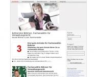 Bild Webseite Rechtsanwältin Esthersine Böhmer Bochum