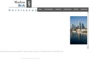 Bild Webseite Rechtsanwalt Markus Beck Frankfurt