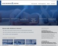Bild Webseite Rechtsanwälte Kolb, Blickhan & Partner - Mannheim Mannheim
