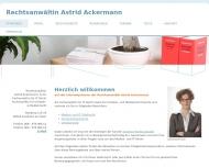 Bild Webseite Rechtsanwältin Astrid Ackermann LL.M. Frankfurt