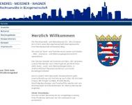 Bild Webseite Rechtsanwälte in Bürogemeinschaft Dr. Endres, Meissner Frankfurt