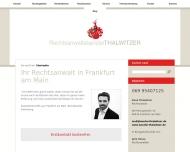 Bild Webseite Rechtsanwaltskanzlei Thalwitzer Frankfurt