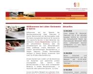 Bild Webseite Löber & Steinmetz Partnerschaft von Rechtsanwälten Frankfurt