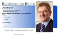 Bild Webseite Rechtsanwalt Gunter Reuter Frankfurt