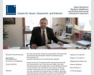 Bild Webseite Rechtsanwalt Norbert Mehlhorn Reutlingen