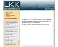 Bild Webseite LKK Rechtsanwälte Nürnberg
