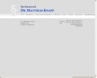 Bild Webseite Rechtsanwalt Dr. Matthias Knapp Schopfheim