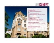 Bild Webseite KUNERT Rechtsanwaltskanzlei Nürnberg
