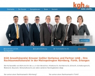 Bild Webseite KGH Anwaltskanzlei Nürnberg