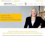Bild Webseite Rechtsanwältin Ingrid Frank München