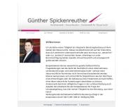 Bild Webseite Rechtsanwalt Günther Spickenreuther Nürnberg