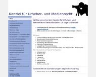 Bild Webseite Rechtsanwältin Dr. Inge Schneider München