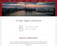 Bild Webseite Rechtsanwaltskanzlei Broschinski - Rechtsanwalt Mischa Broschinski Nürnberg