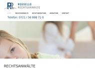Bild Webseite Rossello & Proff Karlsruhe