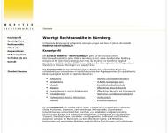 Bild Webseite WOERTGE – RECHTSANWÄLTE Nürnberg