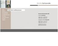 Bild Webseite Hinrichs Rechtsanwälte Nürnberg