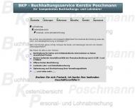 Website BKP-Buchhaltungsservice Kerstin Poschmann