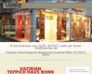 Website Vazirian Teppich Haus Bonn