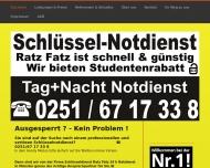 Website Schlüsseldienst Ratz Fatz 24 h Service
