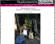 Bild Schneider Musikunterricht