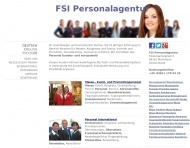 Website FSI Personalagentur