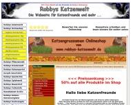 Bild Webseite Robbys-Katzenwelt-Onlineshop Nürnberg