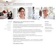 Bild Webseite Zahnarztpraxis Schmitt Berlin