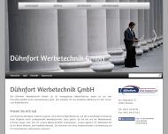 Website Dühnfort Werbetechnik