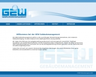Website GEW Gebäudemanagement
