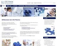 Bild Webseite CSO Pharma Consulting München