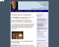 Website Trauerredner Michael Geisler
