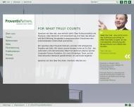 Bild Webseite Proventis Partners Holding München
