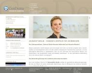 Website CenDenta Zahnarzt Berlin, Zentrum für Zahnmedizin