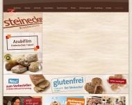 Bild Webseite Steinecke Bäckerei Magdeburg
