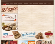 Bild Webseite Steinecke Bäckerei Berlin