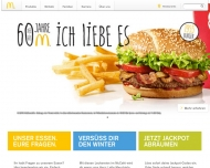 Bild Webseite McDonald's Reutlingen